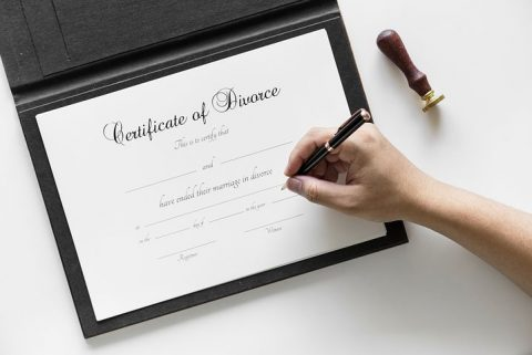 certificate of divorce