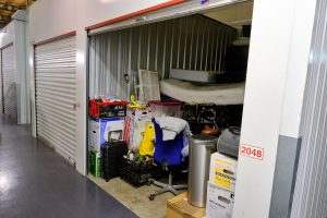 Indoor storage unit in Wyong full of household stuff