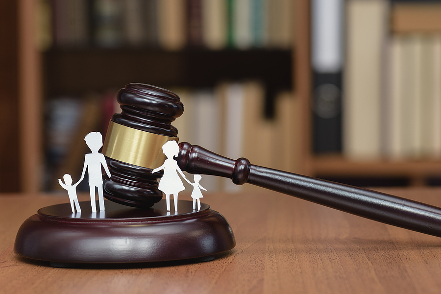 Court and the rights of the family. Family Law concept