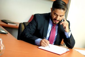 family lawyer in Parramatta giving a consultation over the phone