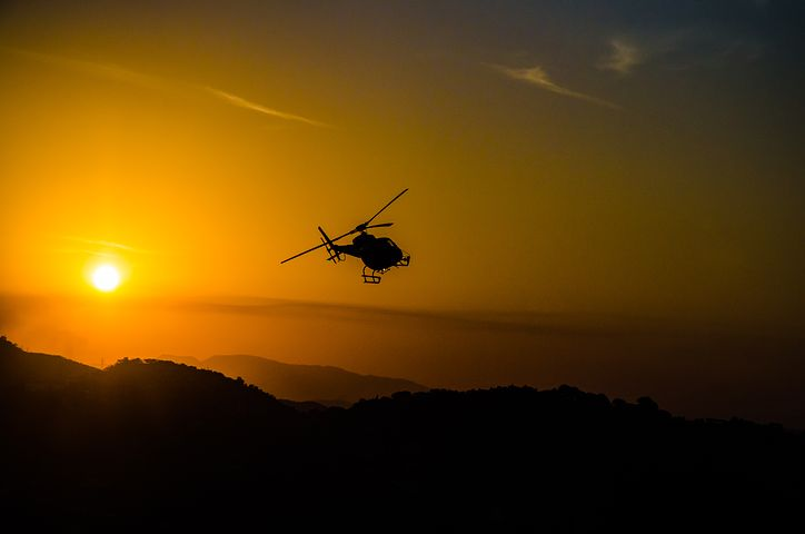 helicopter on air
