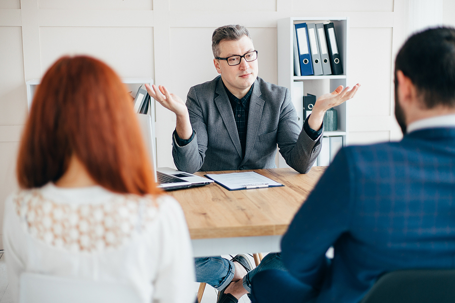 Couple consulting the best family lawyer in Sydney