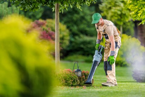 Strata gardening specialist while working