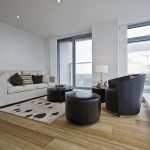 Living room with bamboo flooring in Melbourne
